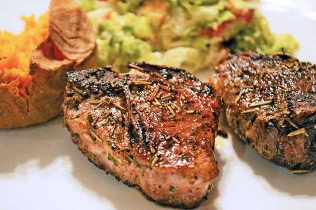 Pan Fried Lamb Chops with Rosemary Photo