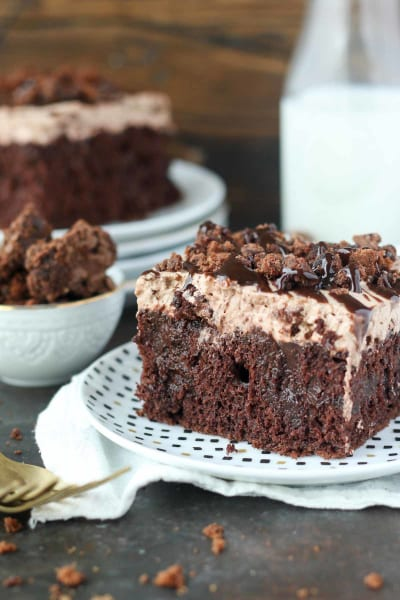 Brownie Batter Poke Cake Image