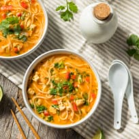 Red Curry Noodle Soup (Khaub Poob or Khao Poon)