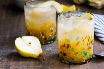Vanilla Pear Gin Fizz