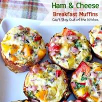 Ham and Cheese Breakfast Muffins