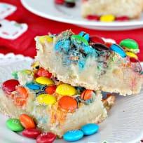 M&M Gooey Butter Cake Bars
