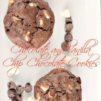 Chocolate and Vanilla Chip Chocolate Cookies
