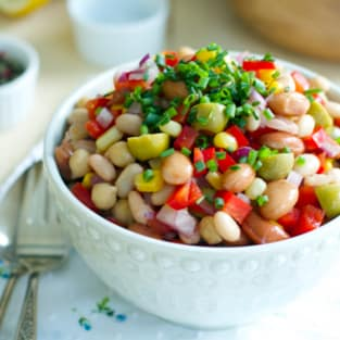 Easy bean salad photo