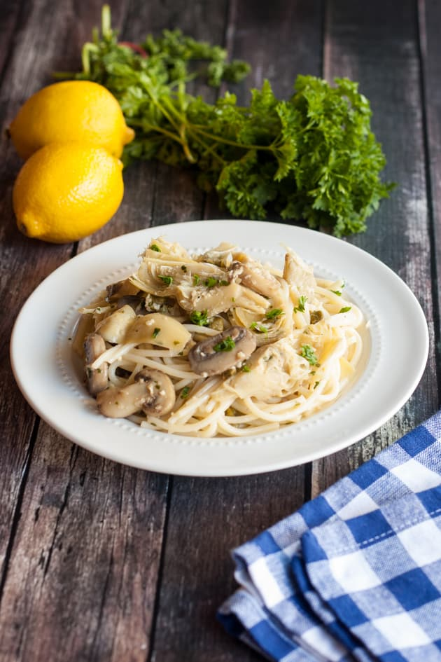 Gluten Free Pasta with White Wine Sauce Pic
