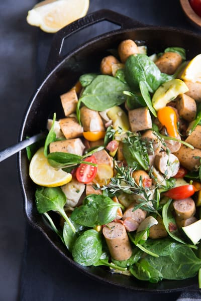 Paleo Sausage Vegetable Skillet Image