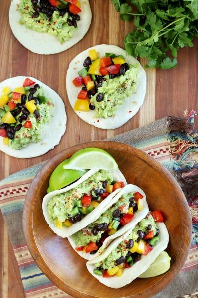 Guacamole Veggie Tacos Picture