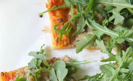 Puff Pastry Sausage and Arugula Pizza Picture