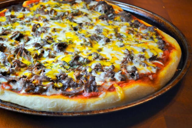 Philly Cheesesteak Pizza Food Fanatic