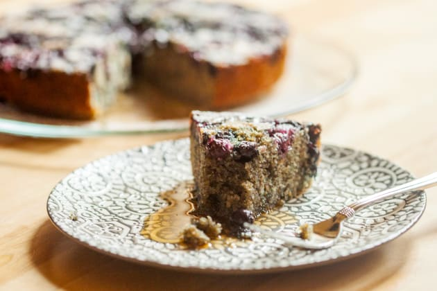 Blueberry Cornmeal Cake Photo