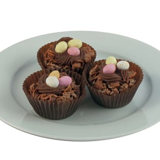 Chocolate cornflake cake photo