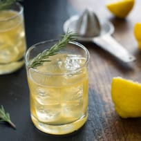 Bourbon Sour with Lemon & Rosemary Recipe