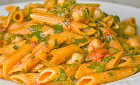 Pasta with Spinach and Beans Recipe