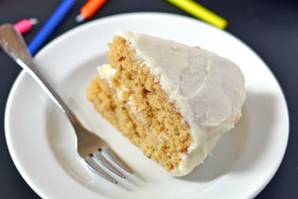 Caramel Cake with White Chocolate Frosting: Timeless Treat