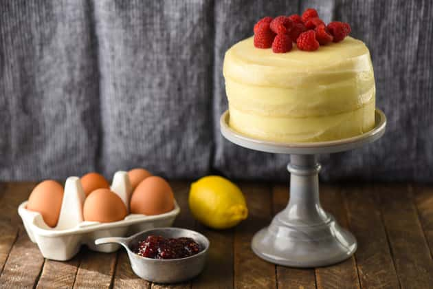 Lemon Raspberry Cake for Two Photo