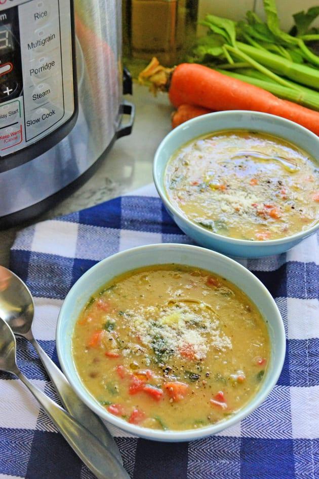 Instant Pot Italian Vegetable Lentil Soup Pic