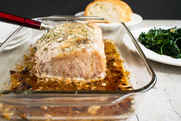 Roasted Pork Loin with Rosemary and Garlic Photo