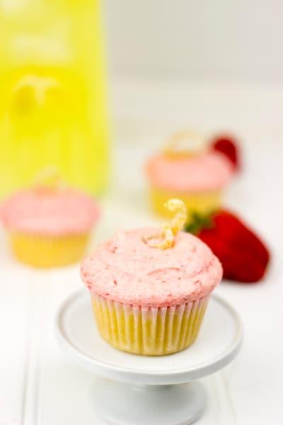 Strawberry Lemonade Cupcakes Picture
