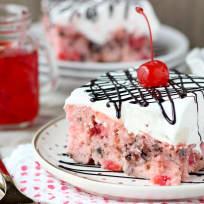Cherry Chocolate Chip Poke Cake Recipe