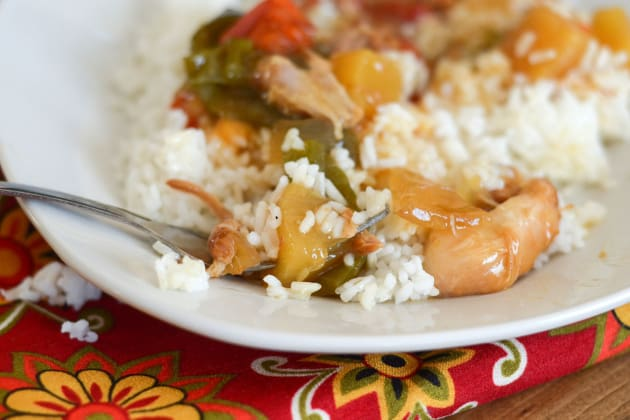 Gluten Free Slow Cooker Sweet and Sour Chicken Image