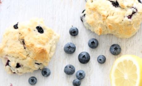 Homemade Starbucks Lemon Blueberry Scones Pic