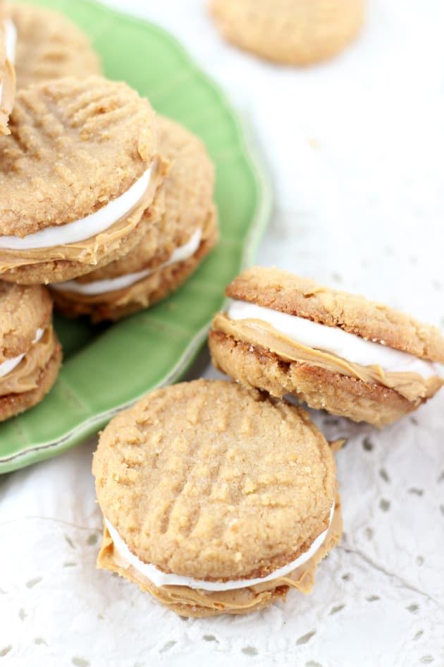 Fluffernutter Cookie Sandwiches - Food Fanatic