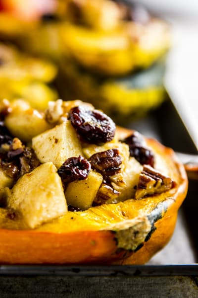 Cranberry Apple Stuffed Acorn Squash Picture