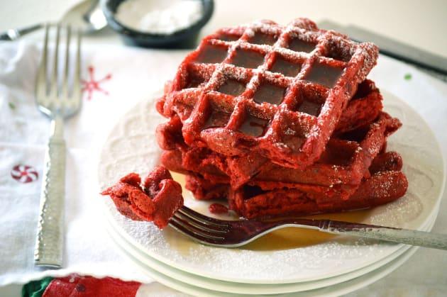 Red Velvet Waffles Image