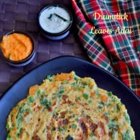 Drumstick Leaves Adai Recipe | Murugai Keerai Adai