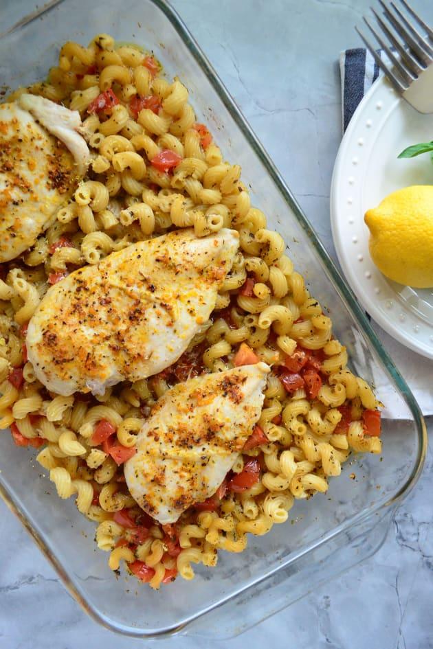 Bruschetta Chicken Baked Pasta Picture