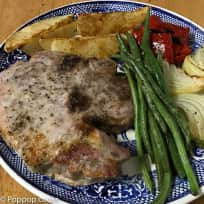 Baked Pork Chops Dinner - In One Pan - 30 Minutes - Quick and Easy - Gluten Free