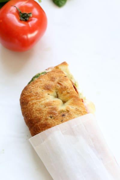 Roasted Tomato Mozzarella Panini