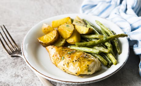 Sheet Pan Honey Garlic Lemon Chicken Photo