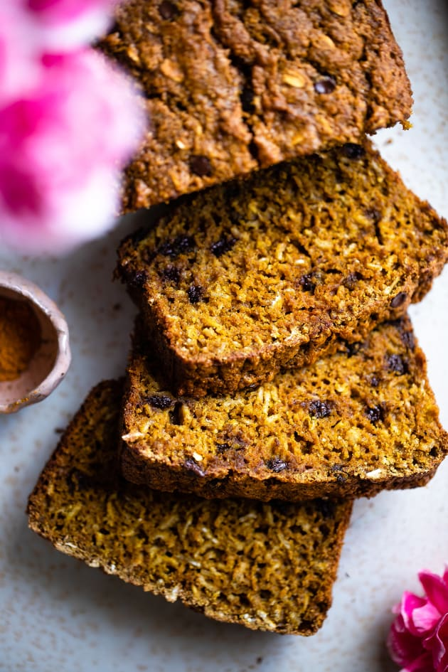Gluten Free Turmeric Chocolate Chip Bread Picture