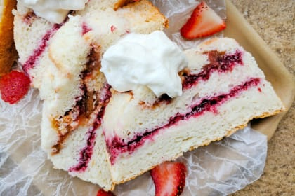 Angel Food Jam Cake