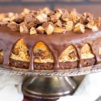 Peanut Butter Cup Brownie Cheesecake Recipe