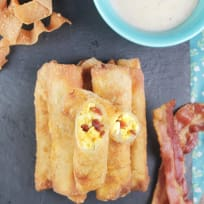 Bacon Egg and Cheese Egg Rolls Recipe