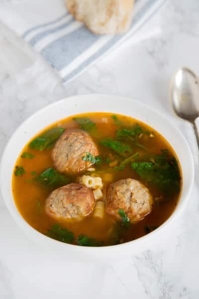 Italian Meatball Soup Picture