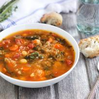 Quinoa Chickpea Spinach Soup Recipe