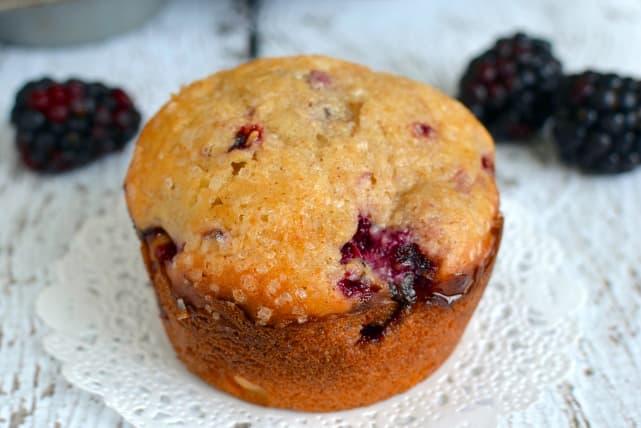 Blackberry Yogurt Muffins Recipe