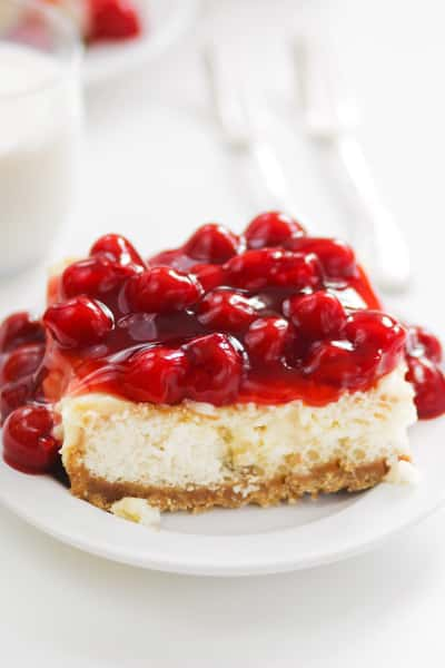 Cherry Cheesecake Poke Cake Picture