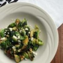 Brussels Sprouts with Spinach, Feta, Walnuts and Honey