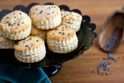 Lavender Cream Biscuits: Afternoon Tea Delight
