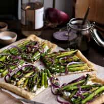 Goat Cheese Asparagus Tart Recipe