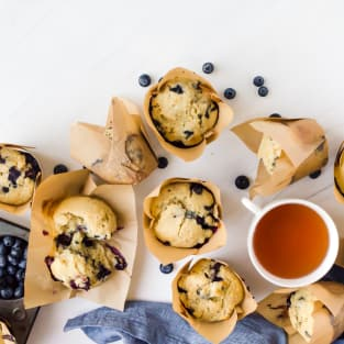 Blueberry doughnut muffins photo