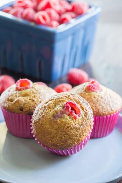 Raspberry Bran Muffins Image