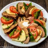 Pork Tenderloin Caprese Salad - 30 Minutes or Less