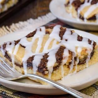 Banana nutella snack cake photo