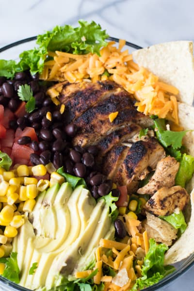 Chicken Taco Salad with Cilantro Ranch Photo