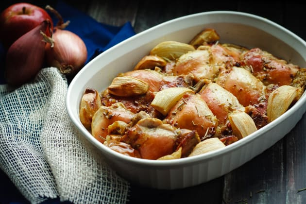 Baked Rosemary Chicken with Apples Pic
